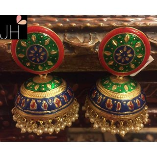 Passion Company Big Hand Painted Jhumki