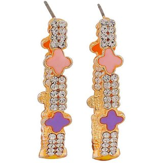 Maayra Sparkling Stones Earrings Multicolour Dangler Drop Party Jewellery