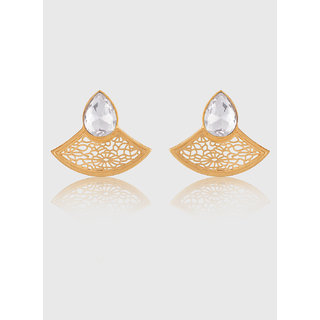 Jazz Jewellery Party White Stone water Drop Fancy Earrings For Women Girls