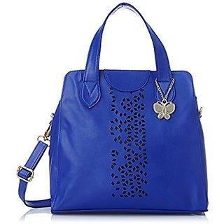 Butterflies Blue Plain Handbag