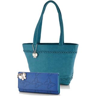 Butterflies  Blue Casual Self Design  Handbag
