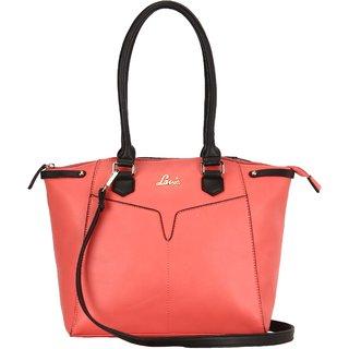 Lavie Pink Printed Handbag
