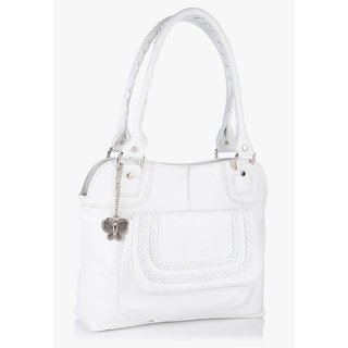 Butterflies Women ( White ) Handbag BNS 0181WH