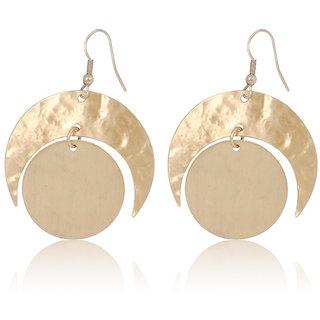 Fascraft Ecliptic Brass Engraved Earrings