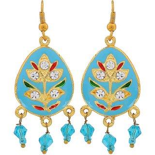 Maayra Meenakari Earrings Multicolour Dangler Drop Wedding Festival Jewellery
