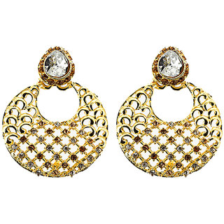 Rizir Fashion Women's Gold Stones And Metal Alloy (Pack of 1)