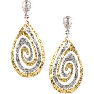 Jazz Gold Silver Plated Drop Earrings for Women