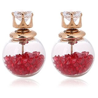 Aabhu Crystal Jewellery Two Sided Stud Earrings Jewellery For Girls Fnd Women