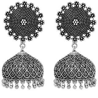 Om Jewells Antique finish Stunning Jhumki Earrings ER1000054RHO