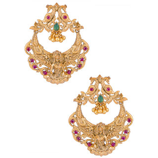 Buy Sukkhi Classic Gold Plated Laxmi Design Chandbali Earring Online