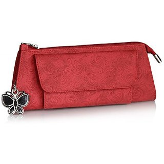 Butterflies Womens Designer  Red Color Clutch BNS 2108