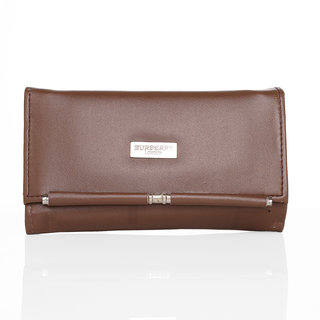 Lady queen brown clutch