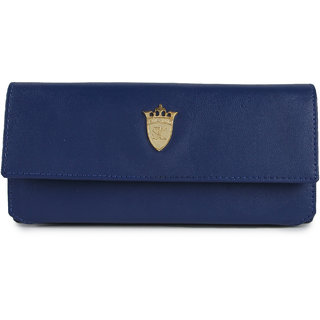 Styler king Blue Plain Clutch
