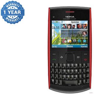 Buy Refurbished Nokia X2-01 Black/Red Qwerty Keypad Mobile