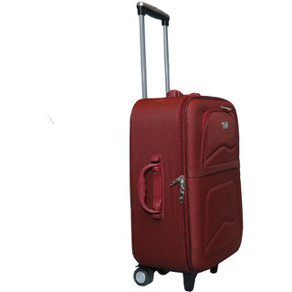 7bfa7d334 46%off Vidhi Maroon Cabin Soft Suitcase Trolley Bag for Luggage 20 (51 cms)