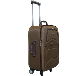 cfc3050e7 46%off Vidhi Brown Cabin Soft Suitcase Trolley Bag for Luggage 20 (51 cms)