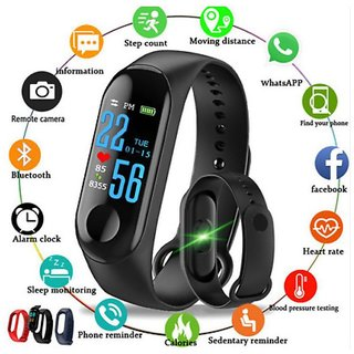 M3 BLUETOOTH, HEART RATE MONITOR, DISTANCE, STEPS COUNT, WATER RESISTANT SMART BAND/WATCH/BRACELET