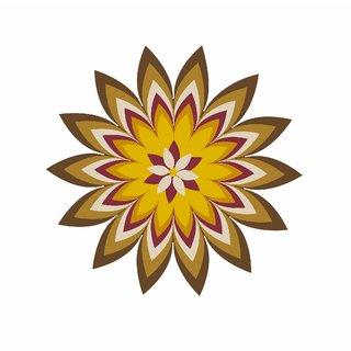 Asmi Collections Vinyl Floor Stickers Art Beautiful Colorful Rangoli(2 Feet  2 Feet)