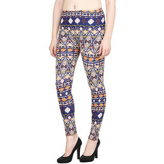 Aiyra Women's Navy Printed stretchable Jegging