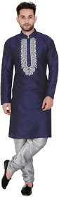 Jewel Blue Floral Print Sherwani For Mens