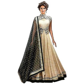 Florence Womens Beige Bangalore silk Embroidered Gown