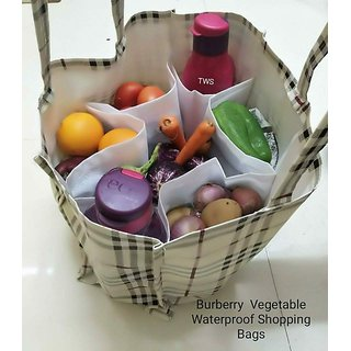 Waterproof Vegetable Shopping Bag With Pockets