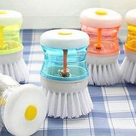 1  Pcs Cleaning Brush Soap Liquid Dispenser (Multicolor)