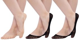 N2S NEXT2SKIN- Women's Sheer Cotton Hidden Loafer Socks, Ladies Invisible No Show Liners - Pack of 3 Pairs