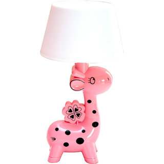 GoodEase Small Pink Giraffe With Lamp Shade For Kids Room