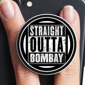 VCR Straight Outta Bombay  Mobile Pop Up Holder for Your Phone  Tablet  Mobile Stand Holder  Phone Grip Holder  Black Colour Holder