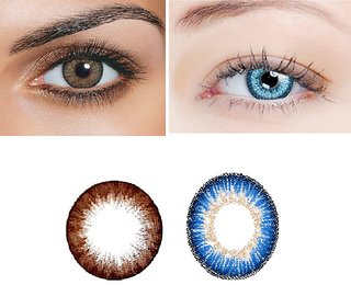 TruOm Blue  Brown Colour Monthly(Zero Power) Contact Lens