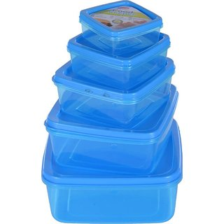 Food Keeper 5 Piece Set   200 ml, 300 ml, 450 ml, 600 ml, 800 ml PP  Polypropylene  Grocery Container   Pack of 5, Multi