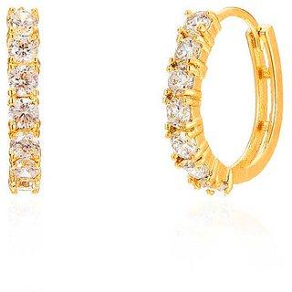 Buy Vinayak Sparklingbeautiful Cubic Zirconia Gold Nose Ring
