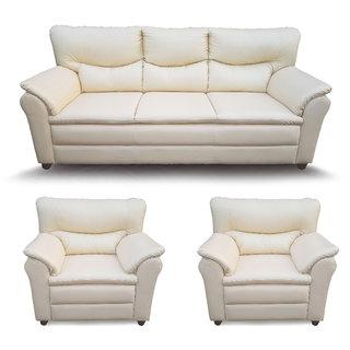 Houzzcraft Elfin sofa set 3+1+1 leatherette