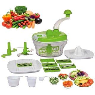 Jay Balaji Plastic 10in1 Food Processor with Chopper Blender Slicer Grater Mixer Dough Kneader Atta Maker Juice S