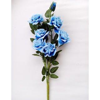 S N ENTERPRISES SNE4365 BLUE ROSE ARTIFICIAL FLOWER BUNCH