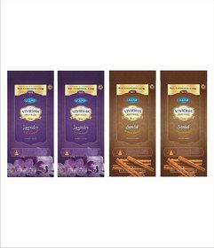 VIVIDHA 150 gm Mix Fragrance Zipper Pouches, Set of 4, Lavender  Sandal fragrance