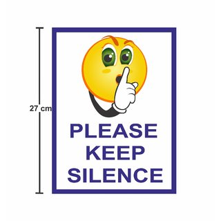 Asmi Collections Self Adhesive Wall Stickers Keep Silence Sign