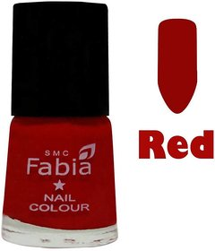 Fabia Trendy Nail Polish Red Matte Color 6 ml by Rab Company