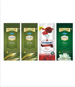 VIVIDHA 150 gm Mix Fragrance Zipper Pouches, Set of 4, Kewda, Rose  Mogra fragrance