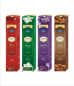 VIVIDHA 125 gm Mix Fragrances Box, Set of 4, Rose, Mogra, Lavender  Sandal Fragrance