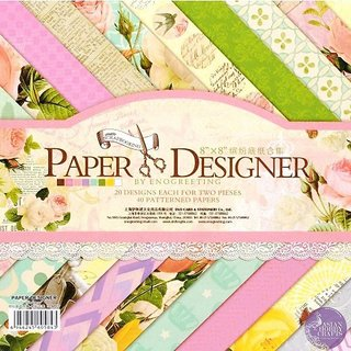 WAY BEYOND Art and Craft Papers 18 Designs 3 DIE-Cut Sheets for Making Envelopes Scrap booking Cards (40PCs 8x8)