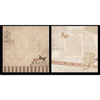 WAY BEYOND Set of 40 Thick Beautiful Pattern Design Printed Papers 8 x 8 Inch