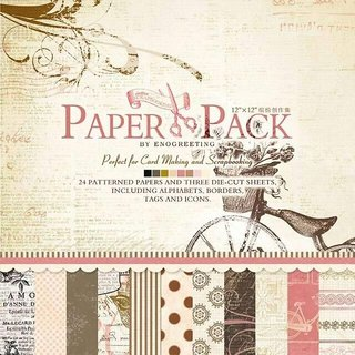 WAY BEYOND Art Craft Papers 18 Designs 3DIE-Cut Sheets for Making Envelopes Scrap book Greeting Cards (24 12x12