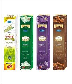 VIVIDHA 125 gm Mix Fragrances Box, Set of 4, Kewda, Mogra, Lavender  Sandal Fragrance