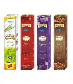 VIVIDHA 125 gm Mix Fragrances Box, Set of 4, Kewda, Rose, Lavender  Sandal Fragrance