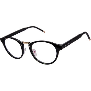Cardon Black Round Full Rim Eyeglass