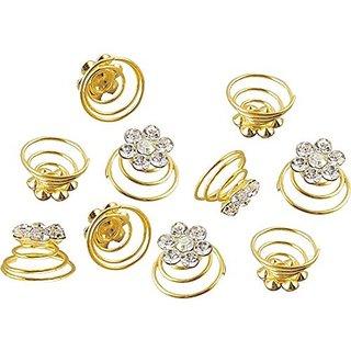 Homeoculture style bun or juda springs Hair Pin(Golden)