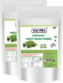 Vetra Organic Wheat grass Powder (Pack of 2)-250 Grams