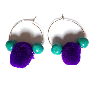 VAH latest colourfull beads and pom pom earring jewellery collection  For Women